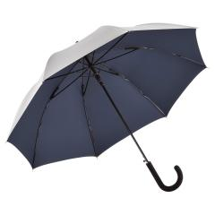 AC regular umbrella FARE®-Collection silver/dark blue