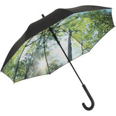 AC regular umbrella FARE®-Nature black/forrest design
