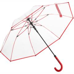 AC regular umbrella FARE®-Pure transparent-red