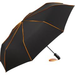 AOC oversize mini umbrella FARE®-Seam black-orange