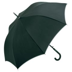 Eye catching umbrella in medium size with reflective piping black