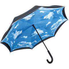 Regular umbrella FARE®-Contrary black/cloud-design