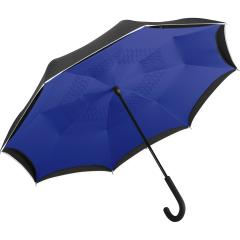 Regular umbrella FARE®-Contrary black/euroblue
