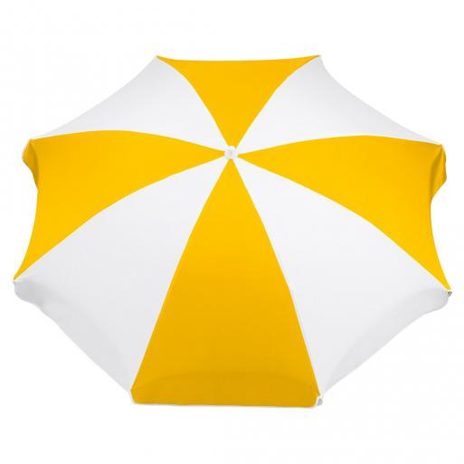 sonnenschirm gelb weiß