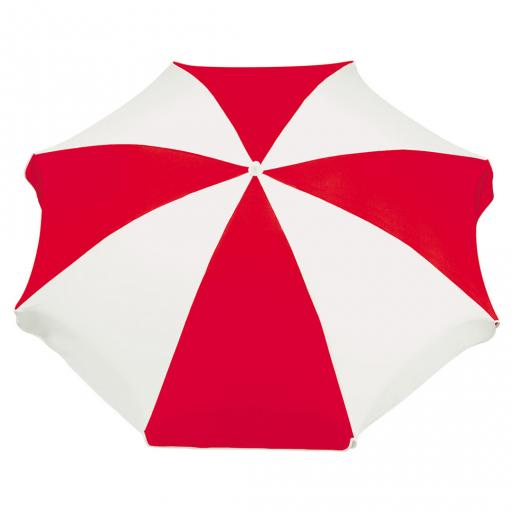 sonnenschirm rot weiß